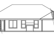 Modern Exterior - Rear Elevation Plan #124-478