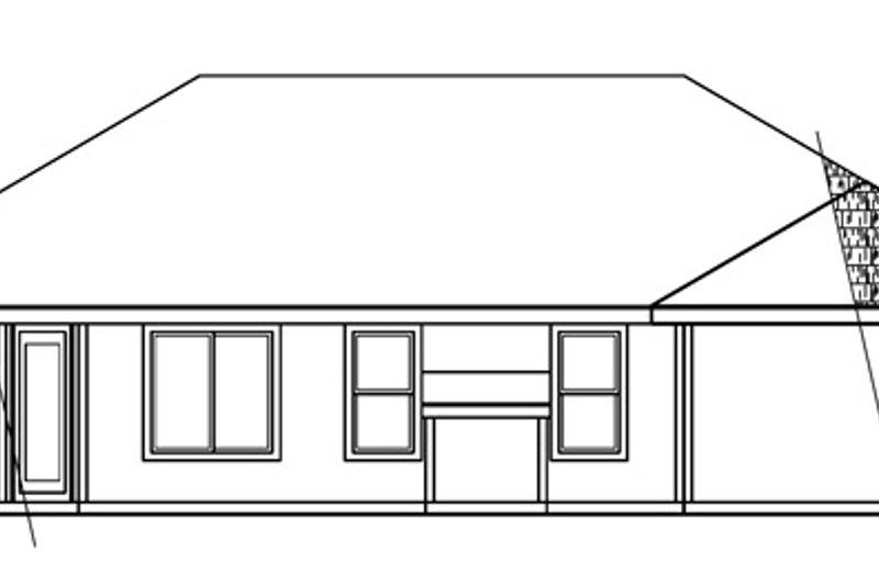 Modern Exterior - Rear Elevation Plan #124-478 - Houseplans.com