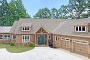 Craftsman Style House Plan - 4 Beds 3.5 Baths 5256 Sq/Ft Plan #437-121 Exterior - Front Elevation