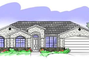 Exterior - Front Elevation Plan #24-233