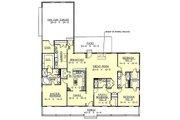 Southern Style House Plan - 4 Beds 3 Baths 2188 Sq/Ft Plan #44-107 Floor Plan - Main Floor Plan