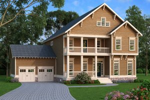 Country Exterior - Front Elevation Plan #419-286