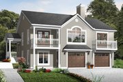 Country Style House Plan - 4 Beds 2 Baths 2285 Sq/Ft Plan #23-2269 Exterior - Front Elevation