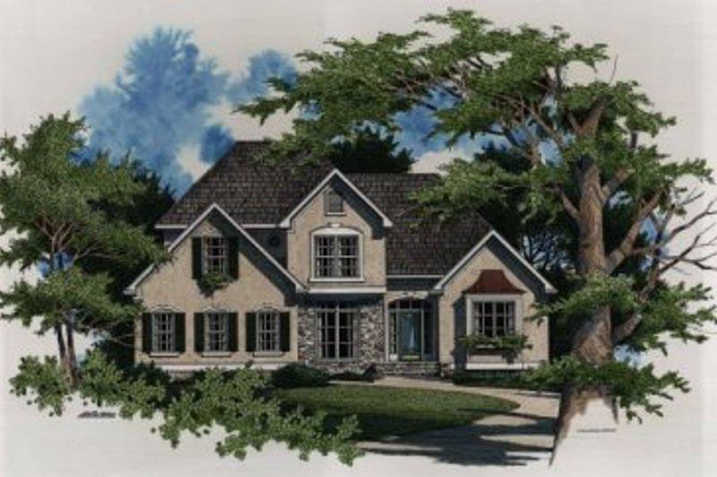 Home Plan - European Exterior - Front Elevation Plan #41-137