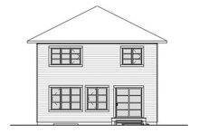Home Plan - Traditional Exterior - Rear Elevation Plan #23-2625
