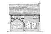 Tudor Style House Plan - 3 Beds 3 Baths 1697 Sq/Ft Plan #18-4514 Exterior - Rear Elevation