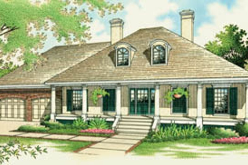 Traditional Style House Plan - 3 Beds 2 Baths 1800 Sq/Ft Plan #45-128