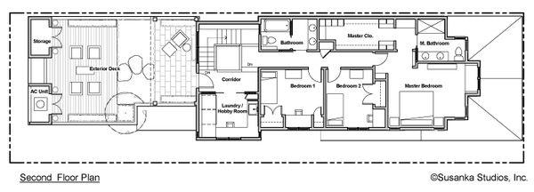 Craftsman Floor Plan - Upper Floor Plan Plan #454-12