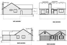 Ranch Exterior - Rear Elevation Plan #100-412
