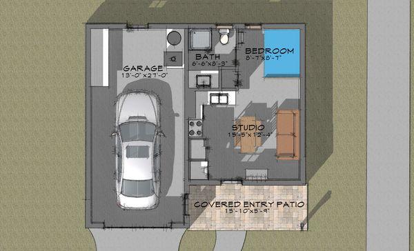 Bungalow Floor Plan - Main Floor Plan #910-4