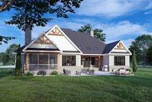House Blueprint - Cottage Exterior - Rear Elevation Plan #929-1132