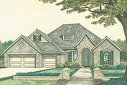 European Style House Plan - 4 Beds 3 Baths 2296 Sq/Ft Plan #310-359 Exterior - Front Elevation