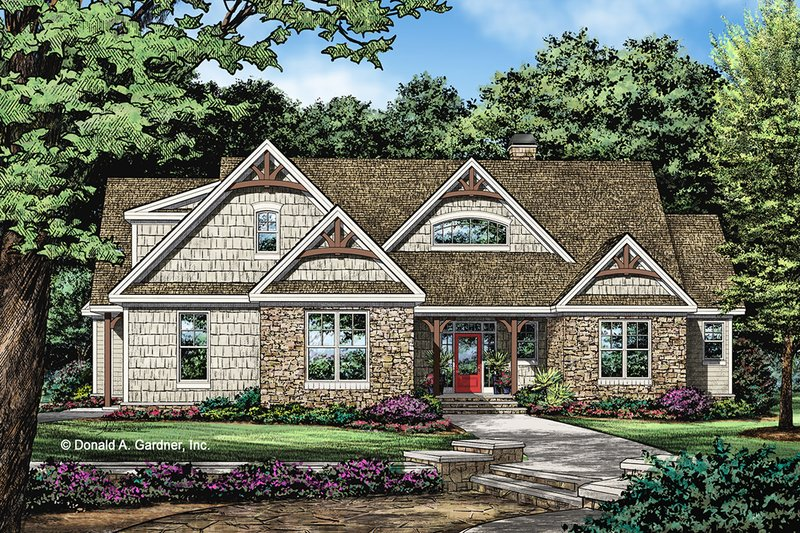 Craftsman Exterior - Front Elevation Plan #929-1057