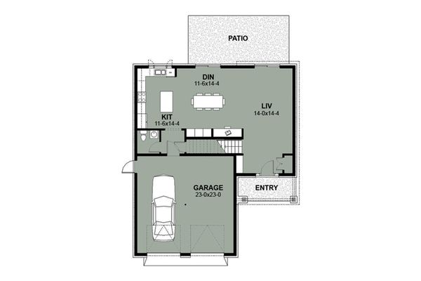 Craftsman Floor Plan - Main Floor Plan Plan #497-2