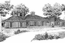 House Blueprint - Traditional Exterior - Front Elevation Plan #72-348
