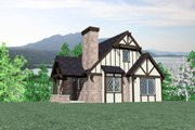 Tudor Style House Plan - 2 Beds 2 Baths 1513 Sq/Ft Plan #509-25 Exterior - Front Elevation