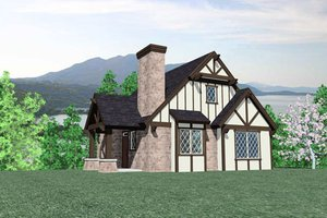 Tudor Exterior - Front Elevation Plan #509-25