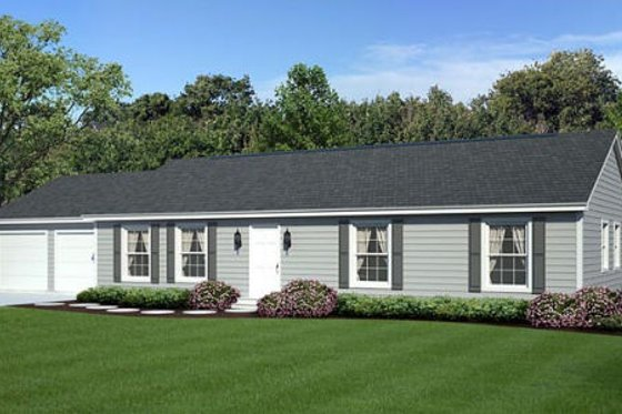 Ranch Exterior - Front Elevation Plan #312-356