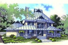 Beach Exterior - Front Elevation Plan #45-191