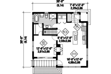 Contemporary Floor Plan - Main Floor Plan Plan #25-4578