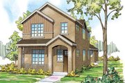 Contemporary Style House Plan - 3 Beds 2.5 Baths 2062 Sq/Ft Plan #124-875 Exterior - Front Elevation