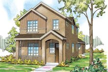 House Plan Design - Contemporary Exterior - Front Elevation Plan #124-875