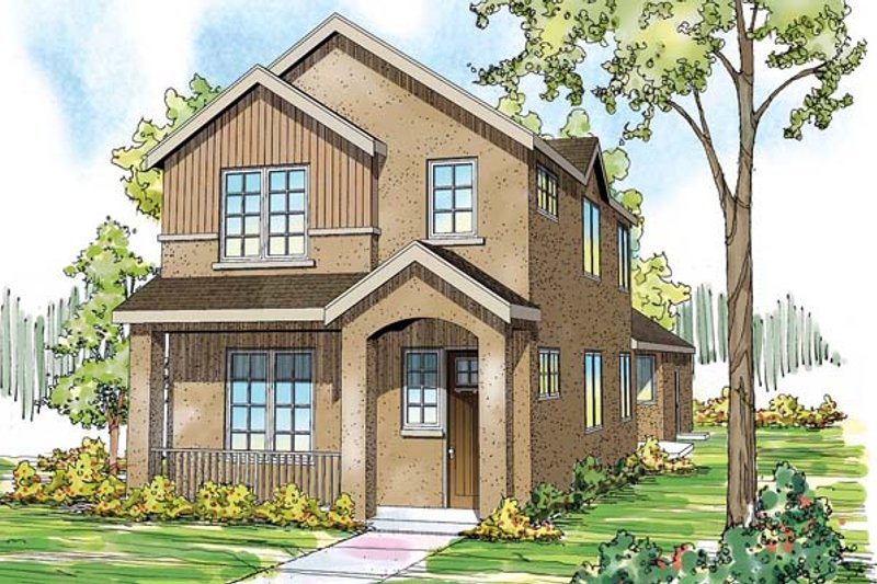 Contemporary Style House Plan - 3 Beds 2.5 Baths 2062 Sq/Ft Plan #124-875