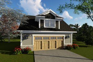 Traditional Exterior - Front Elevation Plan #70-1408