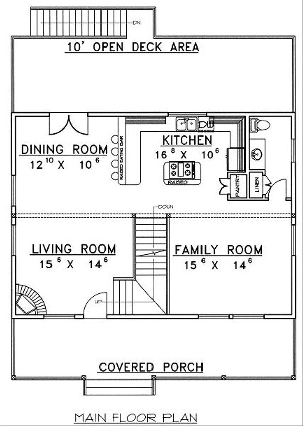 Traditional Floor Plan - Main Floor Plan Plan #117-544