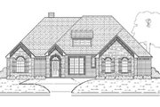 European Style House Plan - 3 Beds 3 Baths 2770 Sq/Ft Plan #84-380 Exterior - Other Elevation