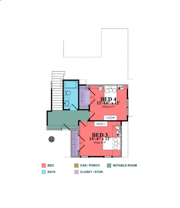 Home Plan - Craftsman Floor Plan - Upper Floor Plan #63-429