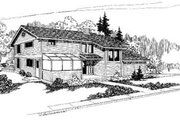 House Plan - 3 Beds 3 Baths 2477 Sq/Ft Plan #60-327 Exterior - Front Elevation