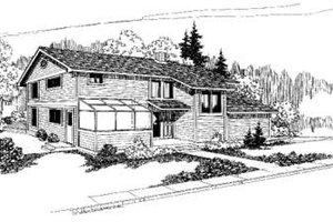 Exterior - Front Elevation Plan #60-327