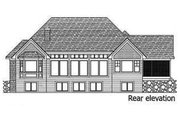 Craftsman Style House Plan - 4 Beds 3.5 Baths 5832 Sq/Ft Plan #51-414 Exterior - Rear Elevation