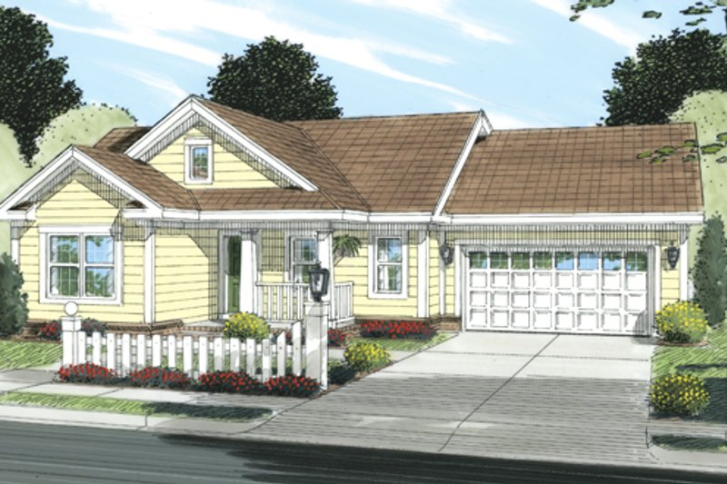 Country Exterior - Front Elevation Plan #513-2057