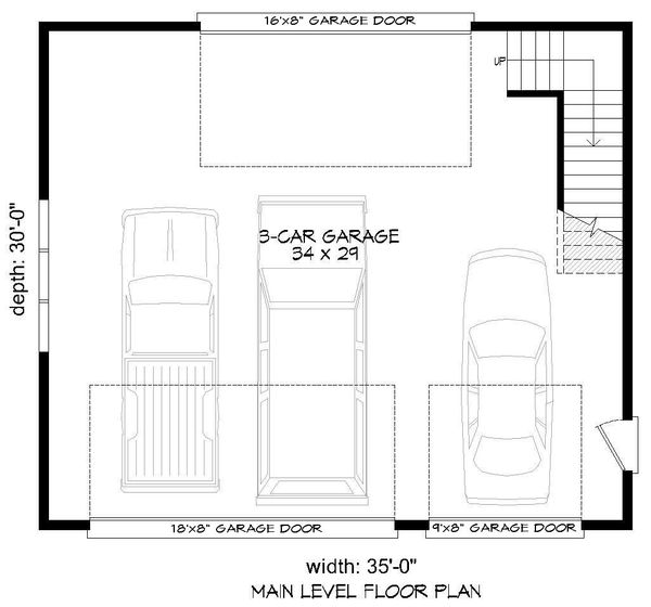 Dream House Plan - Contemporary Floor Plan - Main Floor Plan #932-239