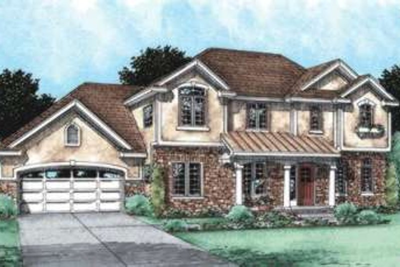 Traditional Exterior - Front Elevation Plan #20-1793 - Houseplans.com
