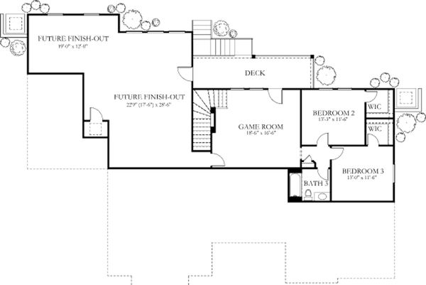 Dream House Plan - European Floor Plan - Lower Floor Plan #80-183