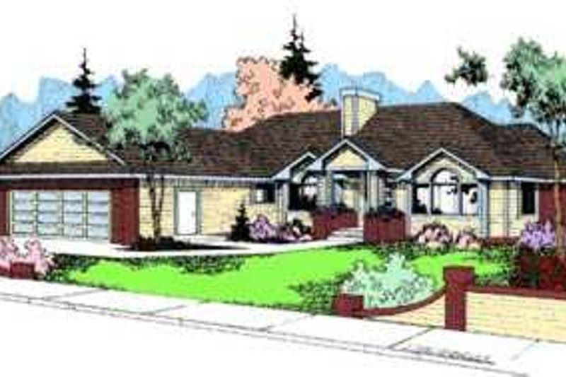 Traditional Exterior - Front Elevation Plan #60-488 - Houseplans.com