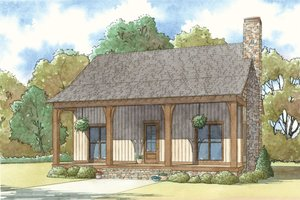 Country Exterior - Front Elevation Plan #923-40