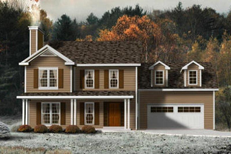 Modern Exterior - Front Elevation Plan #22-501