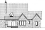 Cottage Style House Plan - 4 Beds 3.5 Baths 3654 Sq/Ft Plan #413-798 Exterior - Rear Elevation