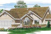 Traditional Style House Plan - 3 Beds 2 Baths 1647 Sq/Ft Plan #47-254 Exterior - Front Elevation
