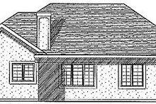 Architectural House Design - European Exterior - Rear Elevation Plan #70-205