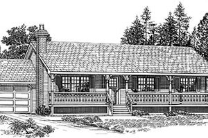 Ranch Exterior - Front Elevation Plan #47-248