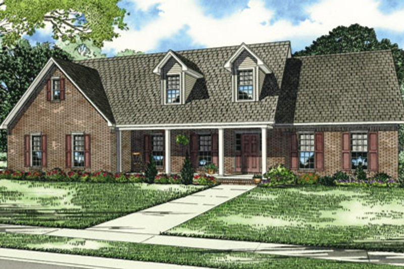 Architectural House Design - Traditional Exterior - Front Elevation Plan #17-448