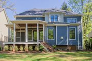 Craftsman Style House Plan - 4 Beds 4 Baths 2995 Sq/Ft Plan #119-370 Exterior - Rear Elevation