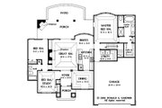 European Style House Plan - 3 Beds 2 Baths 1578 Sq/Ft Plan #929-59 Floor Plan - Main Floor