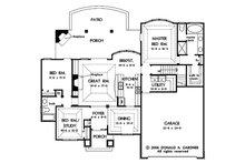 European Floor Plan - Main Floor Plan Plan #929-59