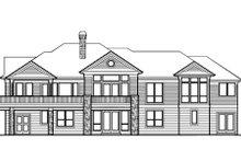 House Design - European Exterior - Rear Elevation Plan #48-131